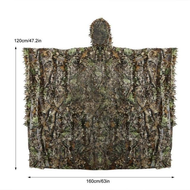 Камуфляжный маскировочный костюм костюмы охотничья одежда-накидка 3D Кленовый лист бионический Камуфляжный костюм дикарь-Снайпер birdwatch страйкбол одежда