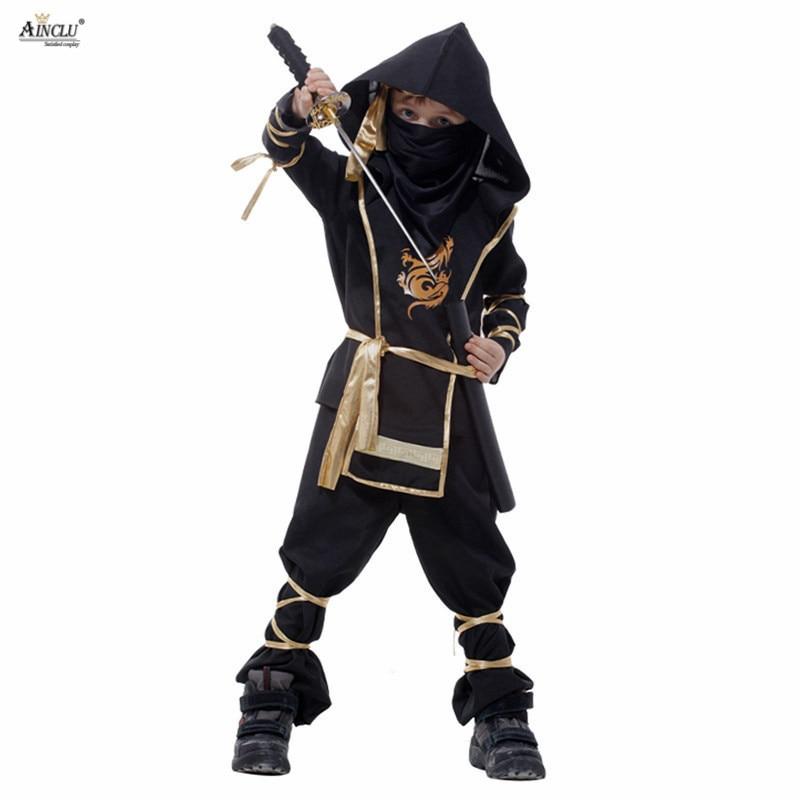 Halloween Kids Ninja Costumes Halloween Party Boys Girls Warrior Stealth samurai Cosplay Assassin costume party fancy dress
