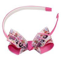 10pcs boutique lovely kids hairbands cartoon ribbon hair bands bowknot hair bands bow hairband