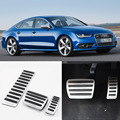 Brand New 3pcs Aluminium Non Slip Foot Rest Fuel Gas Brake Pedal Cover For Audi A7 AT 2009-2016