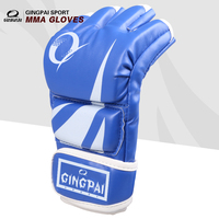 New Top Quality Grappling MMA Gloves PU Punching Bag Boxing Gloves Black Red Blue Adult Free