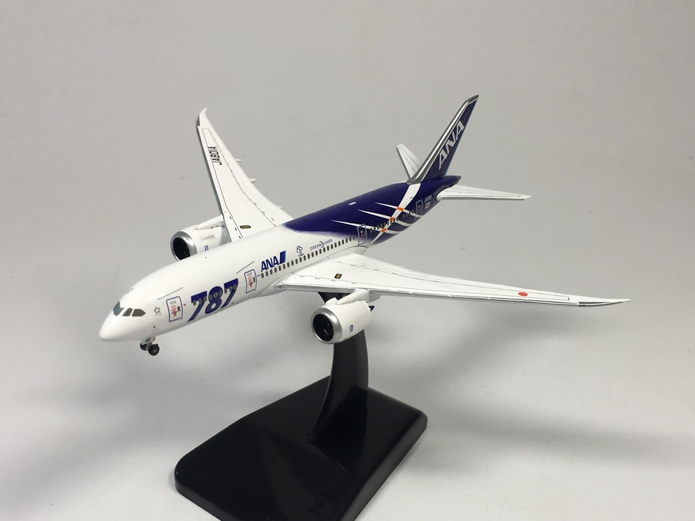 hogan 1:500 ANA Boeing B787-8 JA801A Dreamliner Diecast model airplane 1 400 jinair 777 200er hogan korea kim aircraft model