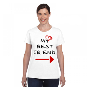 Women Cute Best Friend Matching Letter T-Shirt BFF T Shirt Women Lovers Tee Shirt My Best Friend Printing Tshirt Femme Clothes