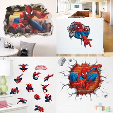 Disney Marvel Spiderman Super Hero Wall Stickers Kids Room Decor Avengers Home Bedroom Cartoon Movie Mural Wall Art Posters цена и фото