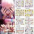 10 sheets nail stickers for more than 300 PCs,  9*7 cm  Cartoon Pattern Children adult girls nail stickers, free shipping