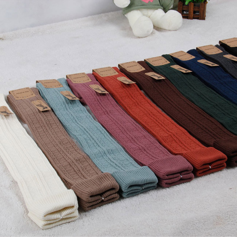 Woman Knee Sock Japan Style Retro Knitted Design Thick Needles Keep Your Leg Warm In Cold Weather Daily Wear SCL322