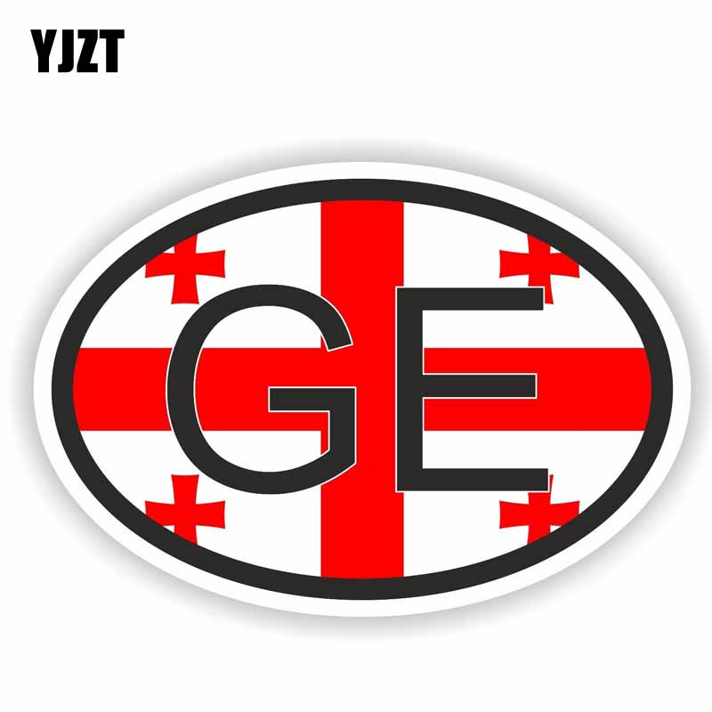 YJZT 11.4CM*7.4CM Creative Georgia Europe Country Code Car Sticker Decal Accessories 6-0253