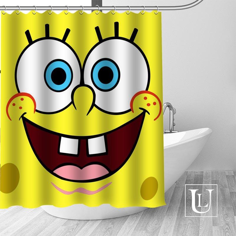 Besten Nizza Der SpongeBob Duschvorhang Personalisierte muster Bad Vorhang Wasserdichtes Gewebe Für Bad mehr größe