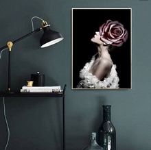 Rose Fantasy Nordic Modern Style Sexy Beauty Girl Poster Canvas Wall Living Room Decoration Combined