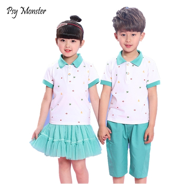 a4e3ea30d Children Korean Japanese Student Sports School Uniforms Girls Boys  Performance Jogging Tracksuit Shirt Skirt Shorts Outfits A45
