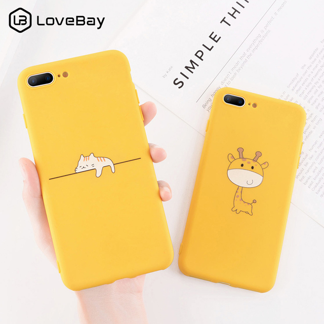 5df101726d Lovebay Phone Case For iPhone 6 6s 7 8 Plus X XR XS Max Cartoon Giraffe  Pineapple Soft TPU Silicon For iPhone 5 5s SE Back Cover