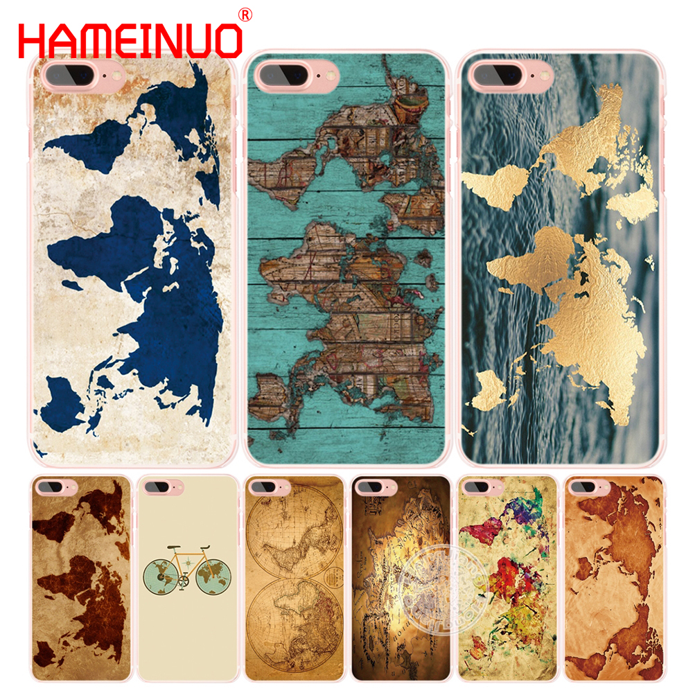 World Map Iphone 6s Case.Hameinuo Travel World Map Vintage Cell Phone Cover Case For Iphone 6