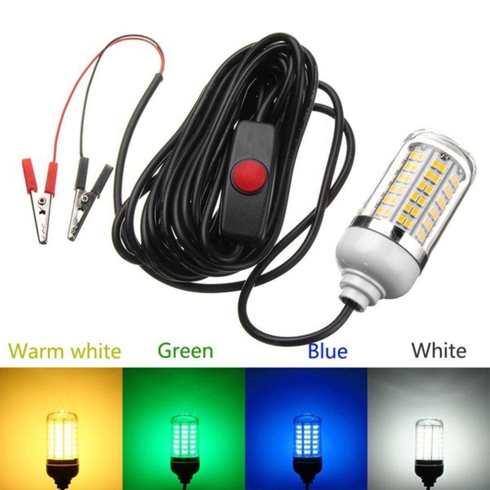 Tragbare LED Angeln Licht Tiefer Tropfen Unterwasser Angeln Lockt Licht Wasserdicht Fisch Attraktor Garnelen Tintenfisch Angeln Köder Licht