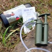 アーミーグリーンポータブル軽量環境に優しい屋外兵士水フィルター清浄クリーナーハイキングキャンプサバイバルemerg