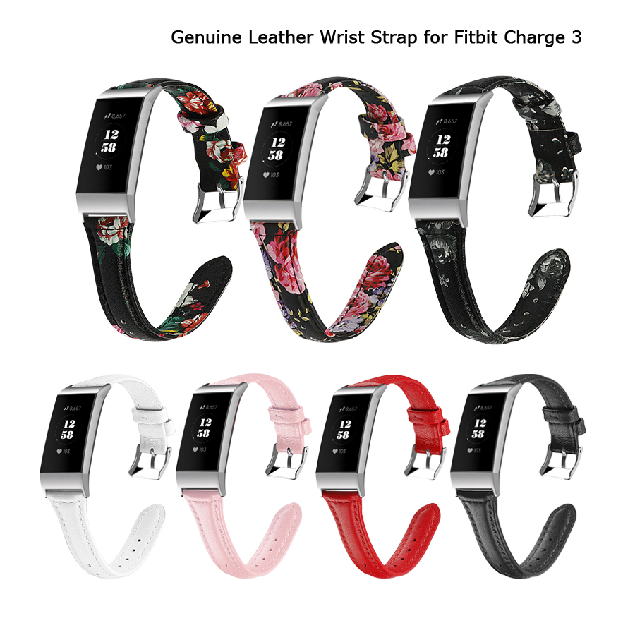 Für Fitbit Gebühr 3 Strap Ersatz Echte Leder Armband Bands für Fitbit Gebühr 3 SE Fitness Tracker Frauen Männer Armband