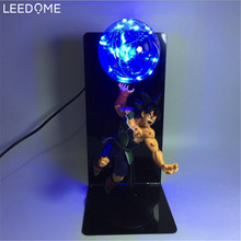 Leedome Dragon Ball Z Son Goku Led Night Lamp Bulb Anime Vegeta Nightlight  Home Decor