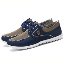 2018 New Men Shoes Trend Canvas Shoes Men Casual Shoes Fashion Loafers Men's Flats Breathable Driving Shoes Big Size 48(China)