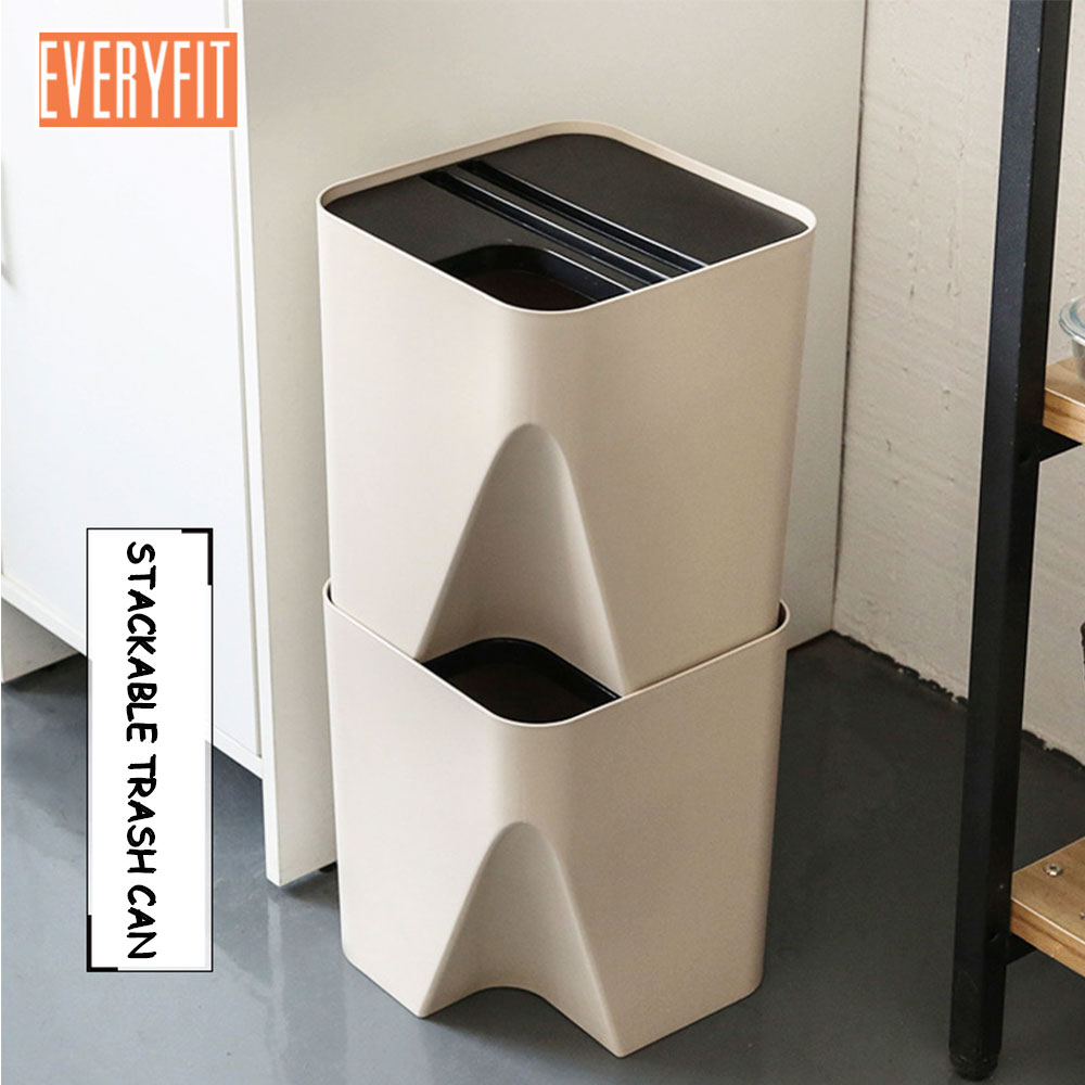 trash cans kitchen corner unit table japanese style stacked classification garbage bucket creative household plastic storage bin can waste bins l s