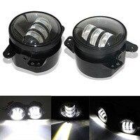 1 Pair 4 Inch Fog Light 30W LED For Jeep Wrangler JK 07 13 High Power