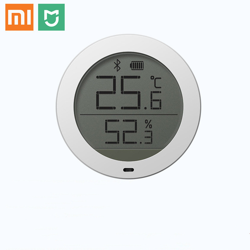 100% New Xiaomi Mijia Bluetooth Temperature Smart Humidity Sensor LCD Screen Digital Thermometer Moisture Meter Mi Home APP