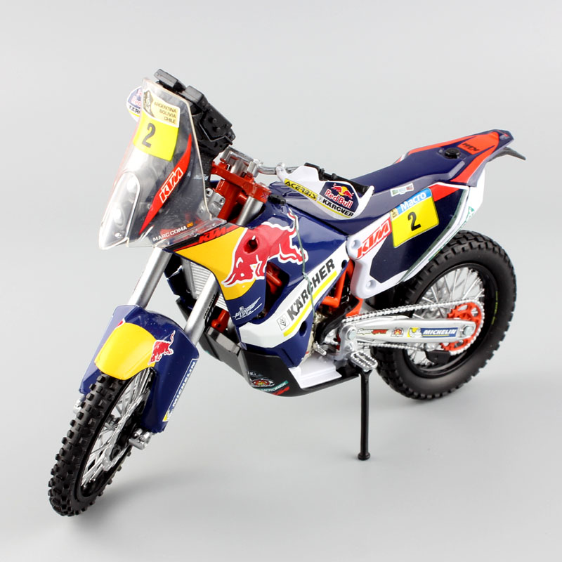 KTM 450 DAKAR RALLY ORANGE WHITE BIKE 1:12 Motocross Motorbike Toy Model New Ray