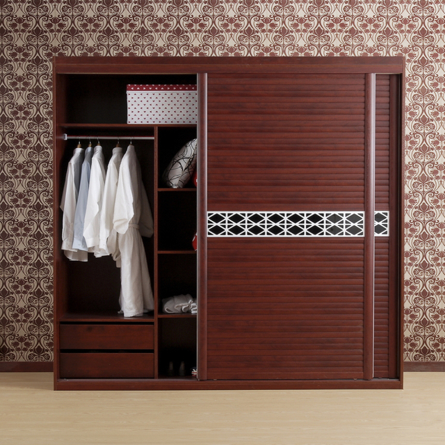 Cheap Bedroom Design Ideas Sliding Door Wardrobes: Modern Luxury Burgundy Furniture Bedroom Sliding Door