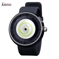 2016 Men S Gift Enmex Light Green Coil Hands Design Wristwatch Creative Dial Breathe Freely Strap
