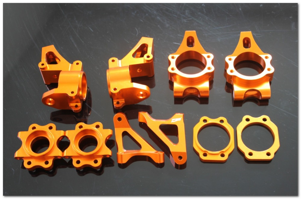 hub carrier set for baja 5b 5T 5SC orange color alloy front hub carrier for 1 5 hpi baja 5b 5t 5sc