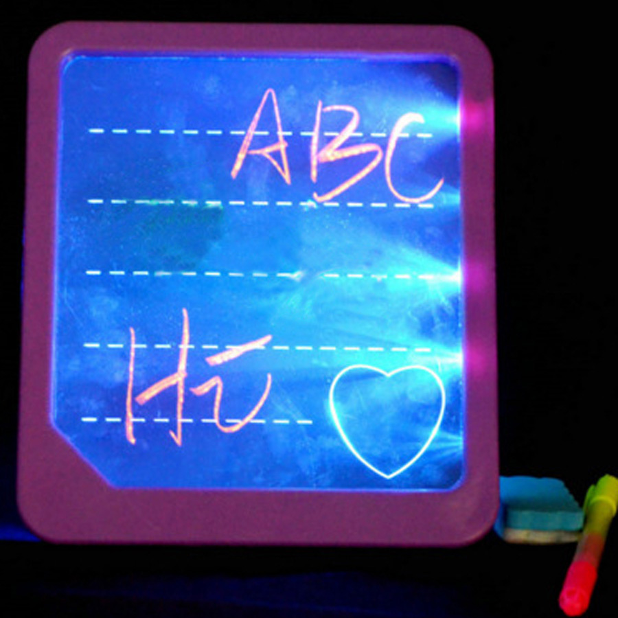 Children Toys Learning Education Drawing Boards Electronic LED Fluorescence Wordpad Colorful Handwriting Lightpad Colors Random