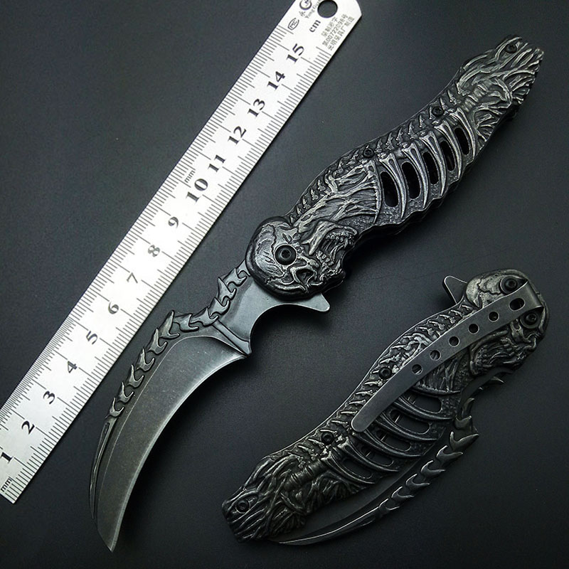 knuckles skull knife Stonewash 7CR13 karambits Folding Knife Tactical Folding Blade CLaw Knives Good High Quality Free shippingknuckles skull knife Stonewash 7CR13 karambits Folding Knife Tactical Folding Blade CLaw Knives Good High Quality Free shipping