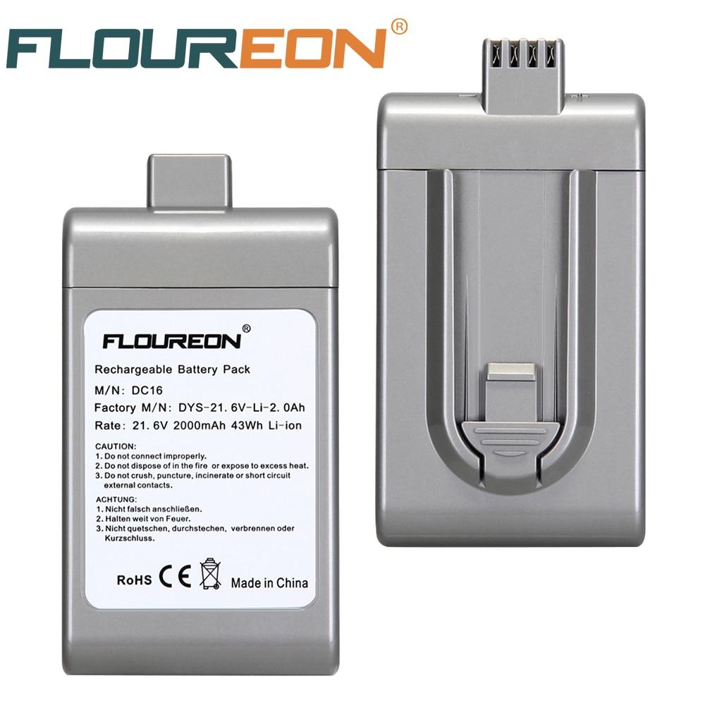 floureon 21.6 v 2000 mah aspirateur batterie pour dyson dc16 bp01