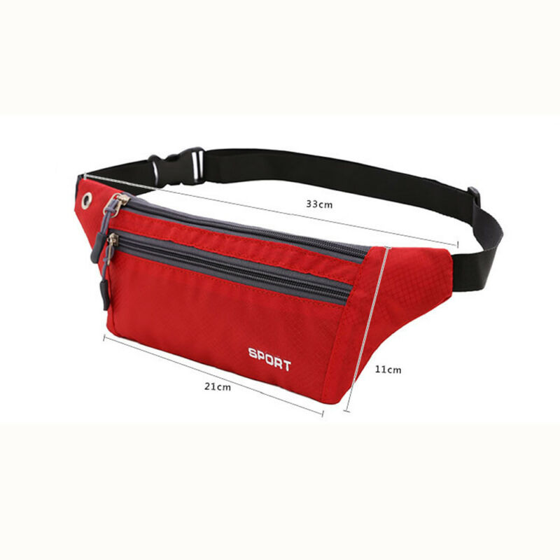 Unisex Travel Running Sport Waist Pack Belt Bag Fanny Pack Bumbag Phone Pouch Bags