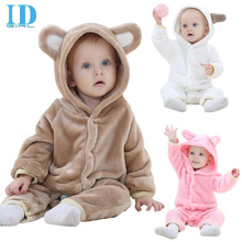 Infant Romper Baby Boys Girls Jumpsuit bear New born Bebe Clothing Hooded Toddler Baby Clothes Cute Animal Romper Baby Costumes(China)