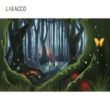 Laeacco Dreamy Jungle Forest Strange Tree Fairy Tale Photography Background Customized Photographic Backdrop For Photo Studio