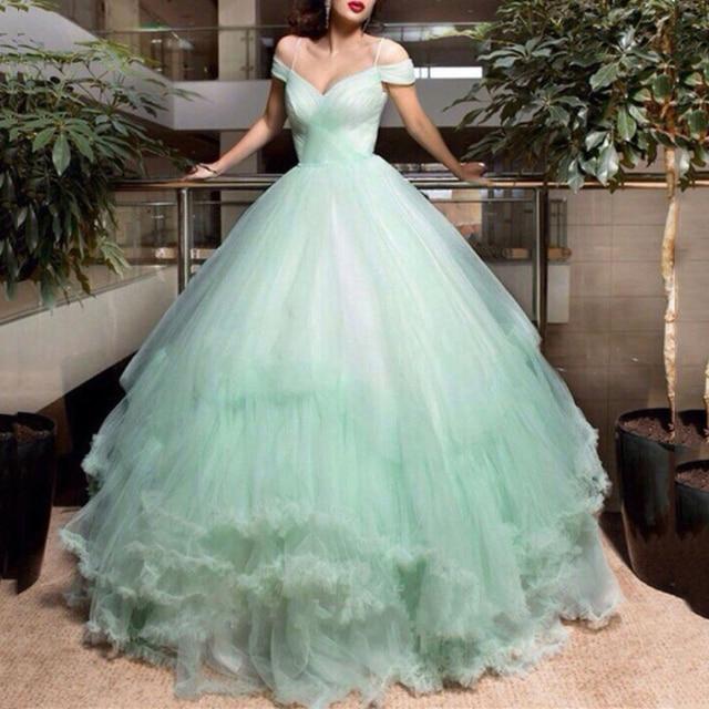 modest vestido de novia verde menta de oriente medio dubai vestido