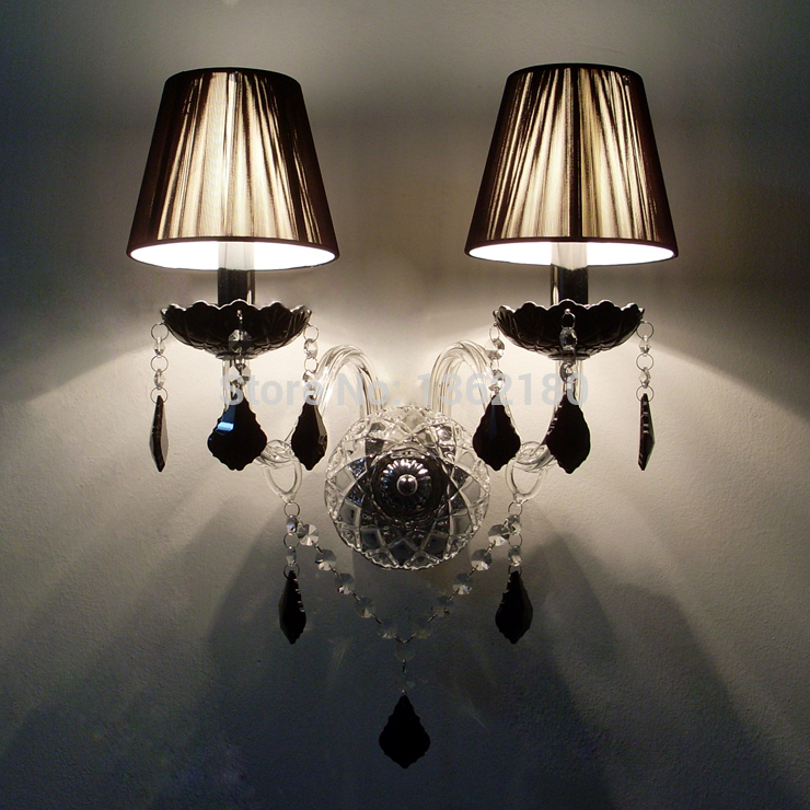 black wall lights bedside lamp high quality sconces lamp indoor lighting wall lamps industrial sconce modern de la pared lampada Lampada Led Modern Crystal Wall Lamp Lamparas de Pared Wall Sconce Hallway lighting Wall Lamp Lampada Led