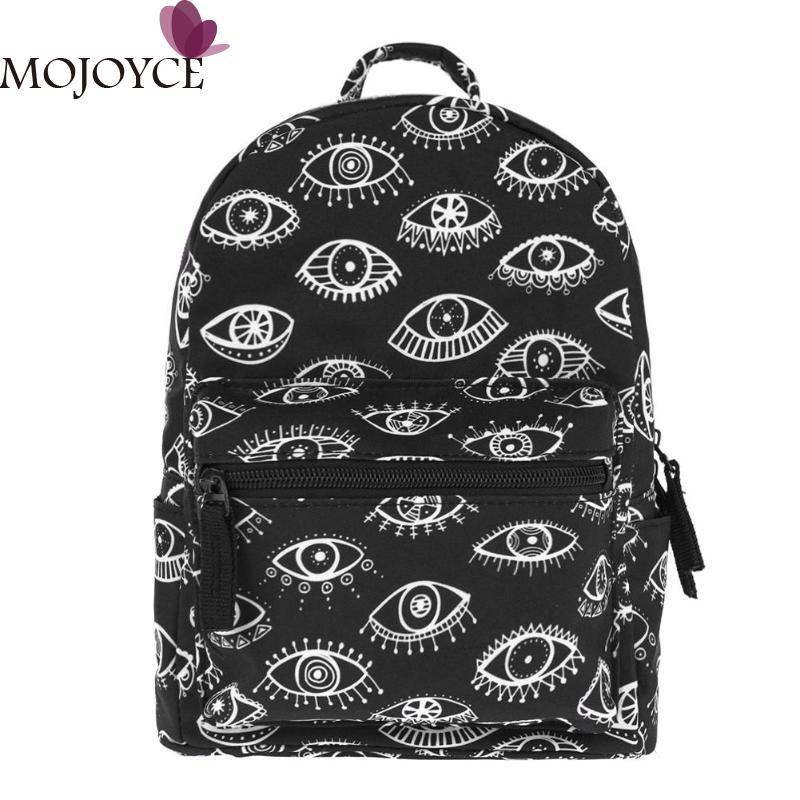 3D Eyes Printed Mini Backpack Travel Bags Waterproof Oxford Cloth Backpack Shoulder Schoolbags Mochila Feminina