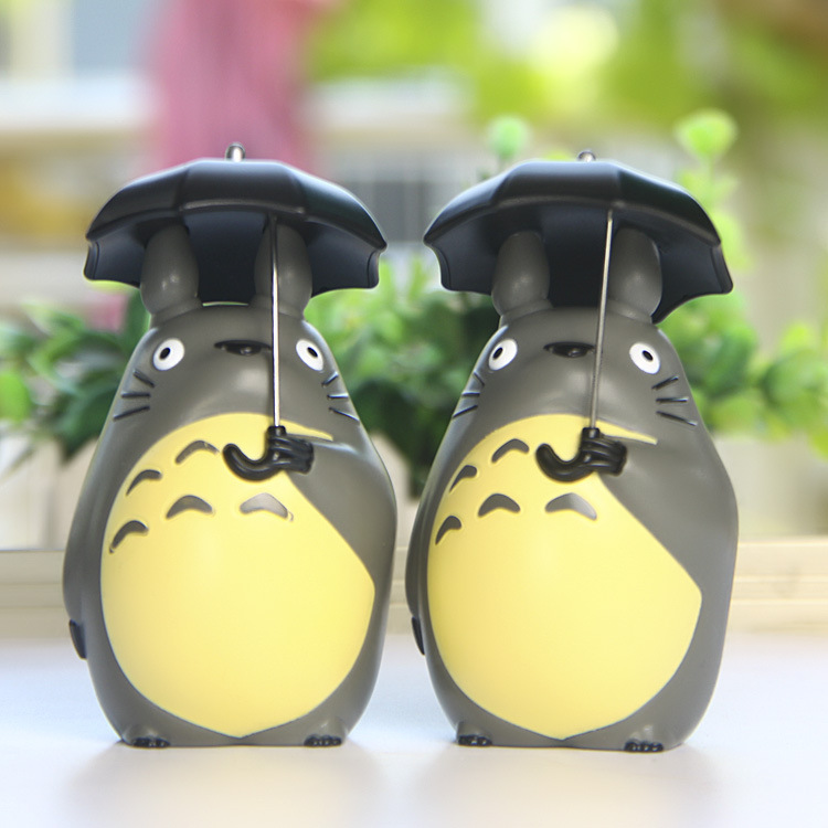 2018 5cm Mini Totoro Action Figure With Umbrella Toy My Neighbor Totoro Action Figurens Doll Juguete Birthday Gift Party Decor