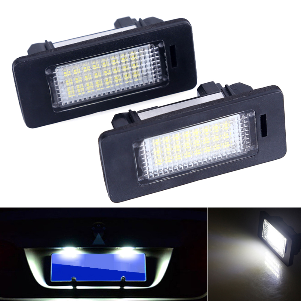 2Pcs Error Free LED Car License Plate Light Car Styling Fit For BMW E39 E60 E70 E71 x5 X6 E60 M5 E90 E92 E93 M3 Car Accessories
