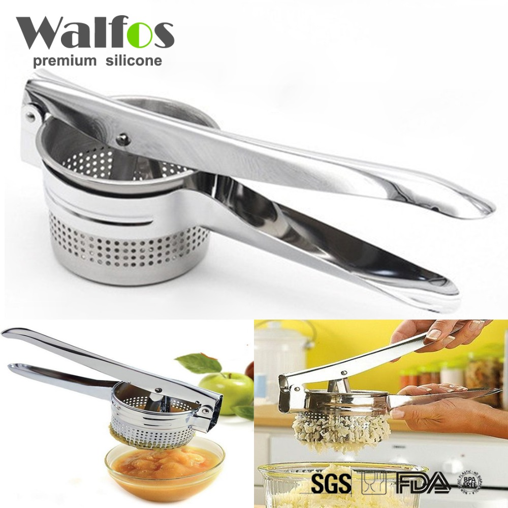 Stainless Steel Potato Ricer Masher Fruit Vegetable Press Juicer Crusher Squeezer Easy Cleaning Household Kitchen Cooking