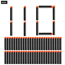 110PCs Soft Hollow Hole Head 7.2cm Refill Darts Toy Gun Bullets for Nerf Series Blasters Xmas Kid Children Gift for Nerf Toy Gun