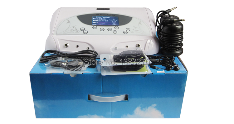2018 hottest health care foot Negative ionic foot detox machine foot bath body purification ion detox electric foot care tool