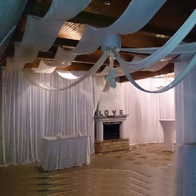 Wedding party event decor ceiling fabric sheer draping 0.7m*8m 10pcs ...