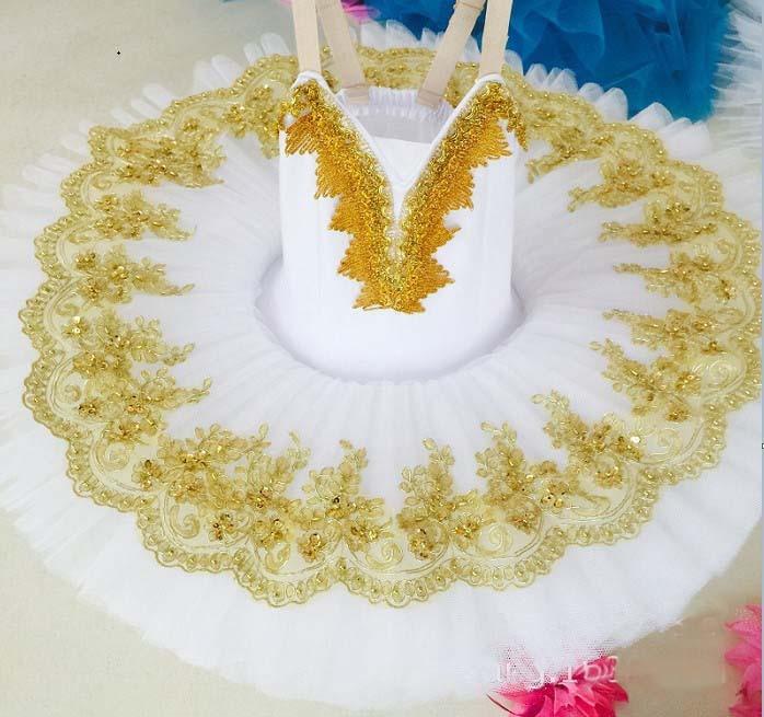 Enfants enfants or Sequin papillon professionnel Ballet Tutu gymnastique justaucorps fille danse Costume gilet bébé Tutu robe