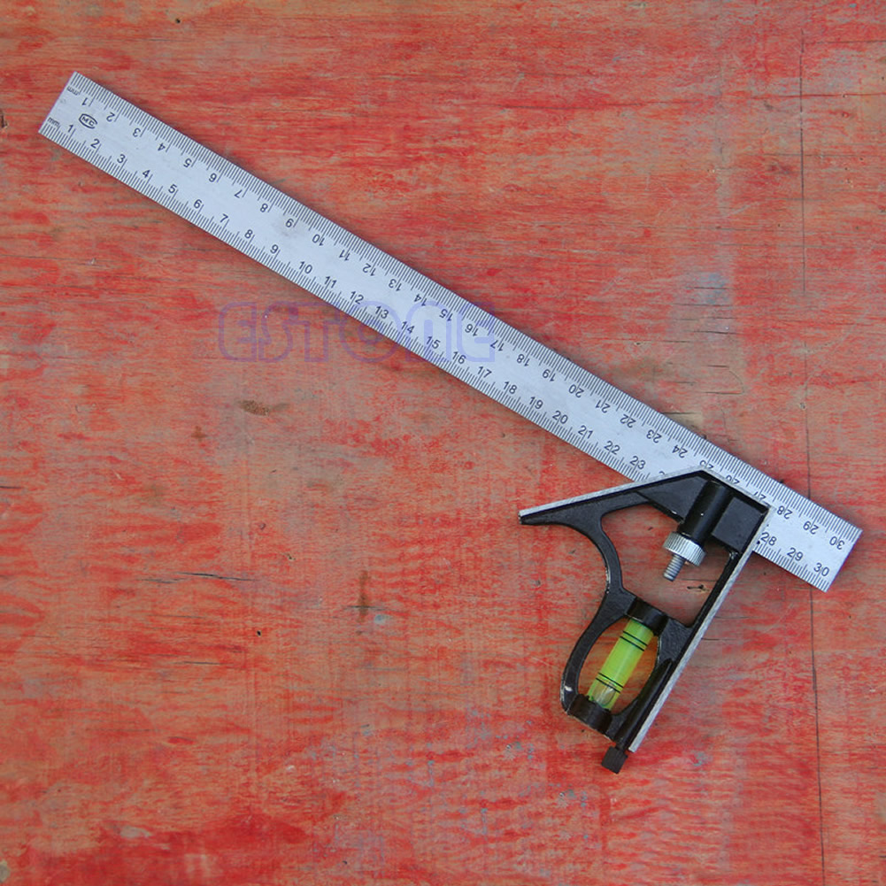2020 New Adjustable Engineers Combination Try Square Set Right Angle Ruler New 300mm(12