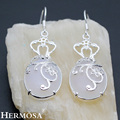 HERMOSA Jewelry Retro patterns 925 sterling silver opal fashion charming Women earrings HF866