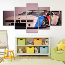 Canvas Paintings Wall Art BMW M1 Sports Car HD Print Posters Home Decoration Modular Pictures For Living Room Artwork Framework(China)