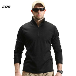 CQB Outdoor Sports Camping Tactical Military Men's Shirt Quick-Dry Long Sleeve Fleece Clothes for Hiking Cycling