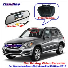 Liandlee Car DVR Front Camera Driving Video Recorder Mirror Monitor For Mercedes Benz GLK (Low-End Edition) 2015 HD AUTO CAM liandlee for mercedes benz glk mb x204 2008 2016 car black box wifi dvr dash camera driving video recorder