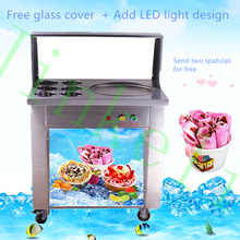 JKL updated fried ice cream roll machine famous compressor Fried ice pan machine one pan with